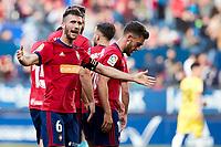 Oier Sanjurjo (defender; CA Osasuna) during the Spanish <br /> la League soccer match between CA Osasuna and CD Lugo at Sadar stadium, in Pamplona, Spain, on Saturday, <br /> April 28, 2018.