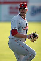 September 9 2008:  Pitcher Mitch Herold of the Lowell Spinners, Class-A affiliate of the Boston Red Sox, during a game at Dwyer Stadium in Batavia, NY.  Photo by:  Mike Janes/Four Seam Images