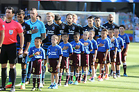 San Jose, CA - Saturday July 29, 2017: San Jose Earthquakes  prior to a Major League Soccer (MLS) match between the San Jose Earthquakes and Colorado Rapids at Avaya Stadium.