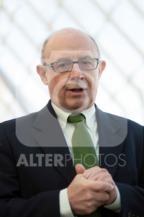 Cristobal Montoro during the PP electoral program presentation for the Spanish Generals elections in Valencia. November 28, 2015. (ALTERPHOTOS/Javier Comos)