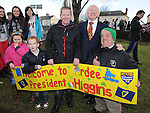 President of Ireland Michael D Higgins pictured with Shaney McConnon, Mark and PJ McGahon at the launch of National Tree week in Ardee. Photo: Colin Bell/pressphotos.ie
