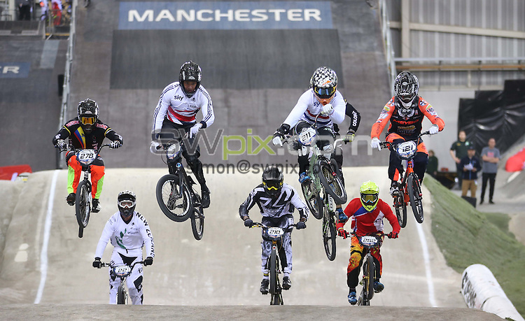 Picture by Alex Whitehead/SWpix.com - Cycling - 2015 UCI BMX Supercross World Cup - National BMX Centre, Manchester, England - 19/04/14 - <br />