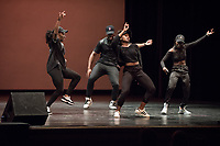 The African Student Association performed a high-energy dance routine.<br /> Occidental College students perform and compete during Apollo Night, one of Oxy's biggest talent showcases, on Feb. 24, 2017 in Thorne Hall. Sponsored by ASOC and hosted by the Black Student Alliance as part of Black History Month.<br /> (Photo by Marc Campos, Occidental College Photographer)