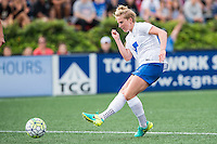 Allston, MA - Sunday July 31, 2016: Natasha Dowie scores the winning goal during a regular season National Women's Soccer League (NWSL) match between the Boston Breakers and the Orlando Pride at Jordan Field.