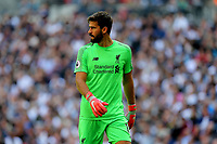 Alisson Becker of Liverpool during Tottenham Hotspur vs Liverpool, Premier League Football at Wembley Stadium on 15th September 2018