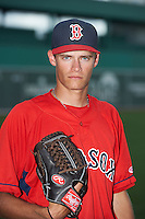 GCL Red Sox pitcher Trey Ball (62) poses for a photo after a game against the GCL Twins on July 19, 2013 at JetBlue Park at Fenway South in Fort Myers, Florida.  GCL Red Sox defeated the GCL Twins 4-2.  (Mike Janes/Four Seam Images)
