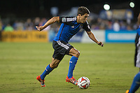 Santa Clara, California - October 18, 2014:  San Jose Earthquakes face off against Vancouver Whitecaps FC at Buck Shaw Stadium on Saturday night.
