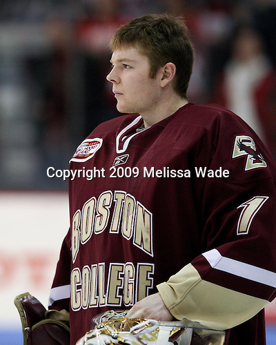 John Muse (Boston College - 1) - The Boston University Terriers defeated the Boston College Eagles 5-2 on Saturday, January 17, 2009, at Agganis Arena in Boston, MA.