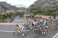 The peloton during the stage of La Vuelta 2012 between Lleida-Lerida and Collado de la Gallina (Andorra).August 25,2012. (ALTERPHOTOS/Paola Otero) /NortePhoto.com<br /> <br /> **CREDITO*OBLIGATORIO** <br /> *No*Venta*A*Terceros*<br /> *No*Sale*So*third*<br /> *** No*Se*Permite*Hacer*Archivo**<br /> *No*Sale*So*third*
