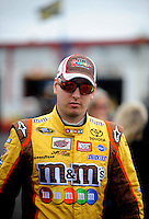 Oct. 30, 2009; Talladega, AL, USA; NASCAR Sprint Cup Series driver Kyle Busch during practice for the Amp Energy 500 at the Talladega Superspeedway. Mandatory Credit: Mark J. Rebilas-