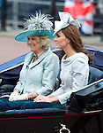 "KATE AND  CAMILLA.TROOPING THE COLOUR_Duke of Edinburgh Makes 1st Appearance since being hospitalised.The event marks the Queen's Official Birthday, The Mall, London_16th May 2012.Photo Credit: ©Dias/DIASIMAGES..**ALL FEES PAYABLE TO: ""NEWSPIX INTERNATIONAL""**..PHOTO CREDIT MANDATORY!!: NEWSPIX INTERNATIONAL..IMMEDIATE CONFIRMATION OF USAGE REQUIRED:.Newspix International, 31 Chinnery Hill, Bishop's Stortford, ENGLAND CM23 3PS.Tel:+441279 324672  ; Fax: +441279656877.Mobile:  0777568 1153.e-mail: info@newspixinternational.co.uk"