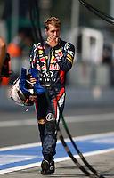 MONZA, ITALIA, 09 SETEMBRO 2012 - F1 GP DA ITALIA - O piloto Alemão Sebastina Vettel durante o Grande Prêmio da Itália de Fórmula 1, no circuito de Monza, na Itália, neste domingo (09). (PHOTO: PIXATHLON / BRAZIL PHOTO PRESS).