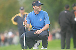 Ryder Cup 206 K Club, Straffan, Ireland..European Ryder Cup team player Sergio Garcia smiles on the edge of the 9th green during the morning fourballs session of the second day of the 2006 Ryder Cup at the K Club in Straffan, Co Kildare, in the Republic of Ireland, 23 September 2006...Photo: Eoin Clarke/ Newsfile.