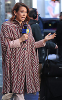 NEW YORK, NY- February 13: Ginger Zee reports on the weather On Good Morning America in New York City on February 13, 2020.     <br /> CAP/MPI/RW<br /> ©RW/MPI/Capital Pictures