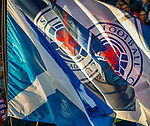 Rangers and saltire flags