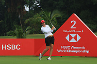 Carlota Ciganda (ESP) in action on the 2nd during Round 2 of the HSBC Womens Champions 2018 at Sentosa Golf Club on the Friday 2nd March 2018.<br /> Picture:  Thos Caffrey / www.golffile.ie<br /> <br /> All photo usage must carry mandatory copyright credit (&copy; Golffile | Thos Caffrey)