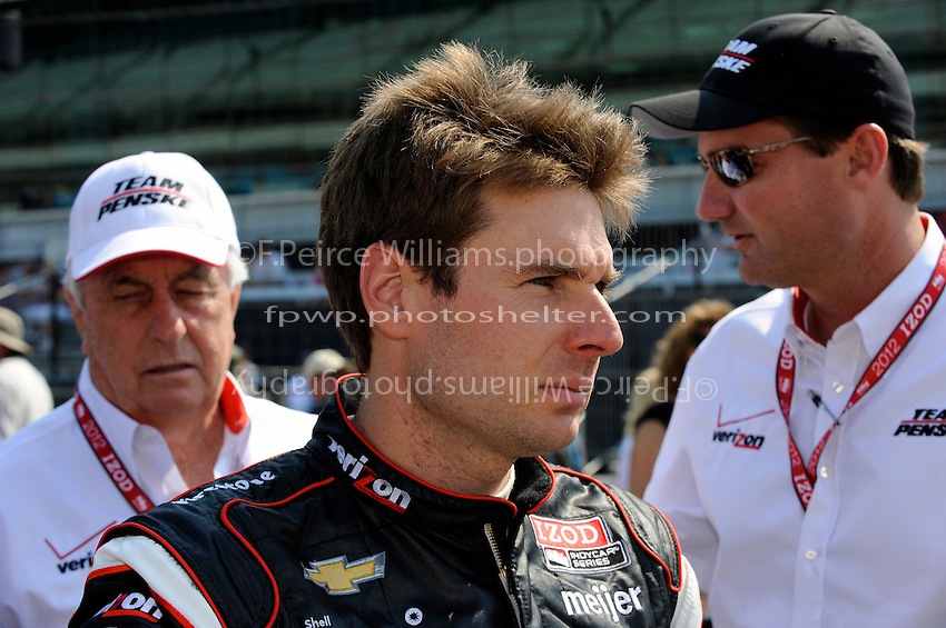Will Power (#12) with Roger Penske and Tim Cindric.