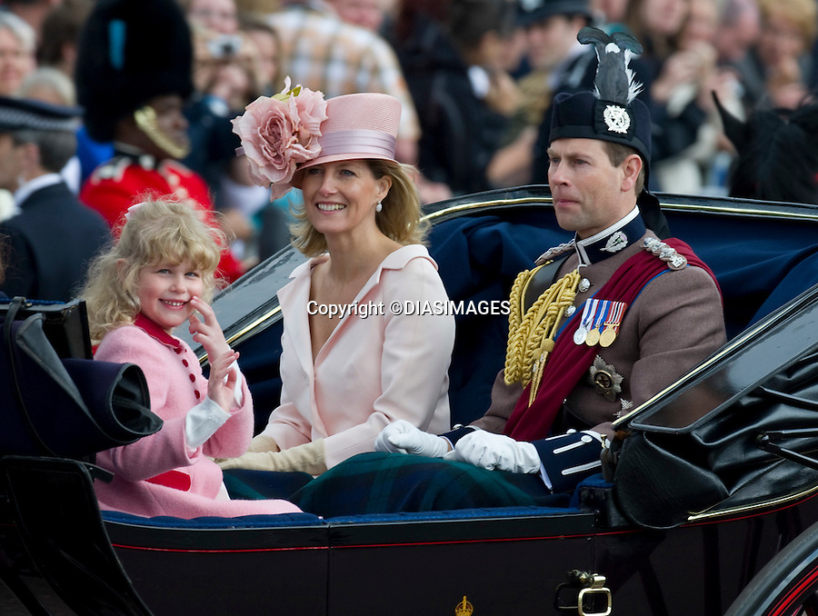 "KATE ATTENDS FIRST TROOPING COLOUR, WHILE PRINCE WILLIAM RIDES.Prince William who is the Colonel of the Irish Guards was wearing their colours in his bearskin. The Trooping of Colour marks the official birthday of The Queen, London_11/06/2011.Mandatory Credit Photo: ©FRANCIS DIAS-DIASIMAGES..**ALL FEES PAYABLE TO: ""NEWSPIX INTERNATIONAL""**..IMMEDIATE CONFIRMATION OF USAGE REQUIRED:.DiasImages, 31a Chinnery Hill, Bishop's Stortford, ENGLAND CM23 3PS.Tel:+441279 324672  ; Fax: +441279656877.Mobile:  07775681153.e-mail: info@newspixinternational.co.uk"