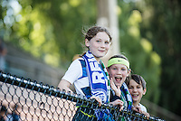 Seattle, WA - Sunday, May 1, 2016: Seattle Reign FC fans prior to a National Women's Soccer League (NWSL) match at Memorial Stadium. Seattle won 1-0.