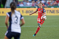 Portland, OR - Saturday July 22, 2017: Meghan Klingenberg during a regular season National Women's Soccer League (NWSL) match between the Portland Thorns FC and the Washington Spirit at Providence Park.