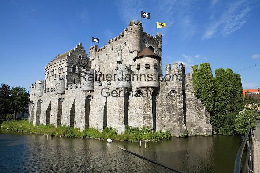 Belgium, Oost Vlaanderen, Ghent: Gravensteen, castle of the Counts of Flanders