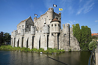 Belgium, Oost Vlaanderen, Ghent: Gravensteen, castle of the Counts of Flanders