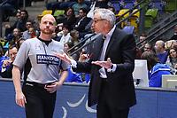 Trainer Gordon Herbert (Fraport Skyliners) beschwert sich - 18.11.2017: Fraport Skyliners vs. ratiopharm Ulm, Fraport Arena Frankfurt