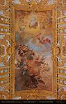 Nave Vault Fresco Fall of the Rebel Angels Giacinto Brandi 1679 gilded carvings stucco work Jacopo Fancelli Cosimo Fancelli San Carlo al Corso Rome