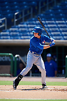 Toronto Blue Jays left fielder Griffin Conine (17) at bat during a Florida Instructional League game against the Philadelphia Phillies on September 24, 2018 at Spectrum Field in Clearwater, Florida.  (Mike Janes/Four Seam Images)