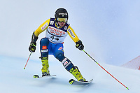 February 17, 2017: Kristoffer JAKOBSEN (SWE) competing in the men's giant slalom event at the FIS Alpine World Ski Championships at St Moritz, Switzerland. Photo Sydney Low
