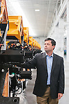 Tim Frank, CEO and Chairman of SANY America, stands inside of the SANY factory in Peachtree City, Georgia, June 3, 2013.