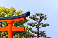 The main gate to the Fushimi Inari Shrine in Koyoto, Japan.