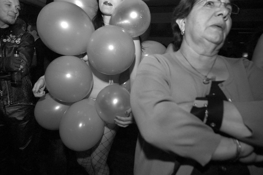 Anastasia of Skin Tight Outta Sight wears a balloon costume for a performance at the Hard Rock.