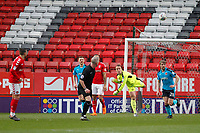 Alex Cairns of Fleetwood Town distributes the ball during the Sky Bet League 1 match between Charlton Athletic and Fleetwood Town at The Valley, London, England on 17 March 2018. Photo by Carlton Myrie.