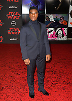 John Boyega at the world premiere for &quot;Star Wars: The Last Jedi&quot; at the Shrine Auditorium. Los Angeles, USA 09 December  2017<br /> Picture: Paul Smith/Featureflash/SilverHub 0208 004 5359 sales@silverhubmedia.com