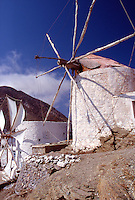 Greece Karpathos The windmills of Olympos
