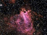 swan nebula, omega nebula,messier 17, elephant trunk nebula
