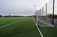 Pictured: One of the artificial astro-turf pitches. Tuesday 14 January 2013<br />