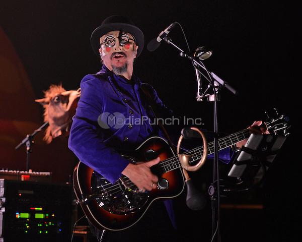 MIAMI BEACH, FL - NOVEMBER 11: Les Claypool of Primus performs at Fillmore Miami Beach on November 11, 2014 in Miami Beach, Florida. Credit: mpi04/MediaPunch