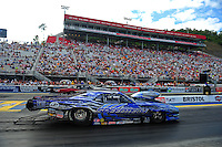 Jun. 17, 2011; Bristol, TN, USA: NHRA pro mod driver Khalid Balooshi during qualifying for the Thunder Valley Nationals at Bristol Dragway. Mandatory Credit: Mark J. Rebilas-