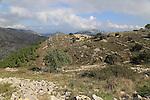 Farmhouse in Carboniferous limestone landscape, near Benimaurell, Vall de Laguar, Marina Alta, Alicante province, Spain