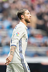 Sergio Ramos of Real Madrid reacts during their La Liga 2016-17 match between Real Madrid and Malaga CF at the Estadio Santiago Bernabéu on 21 January 2017 in Madrid, Spain. Photo by Diego Gonzalez Souto / Power Sport Images