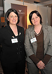 IHF- REPRO FREE HOTELIERS CONFERENCE KILLARNEY: .Annette O'Donovan, West Lodge Hotel, Bantry, County Cork and Sandra Maybury, Net Assist pictured at the IHF conference in The Malton Hotel, Killarney on Monday. Picture by Don MacMonagle...PR photo IHF