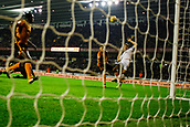 3rd November 2017, Molineux, Wolverhampton, England; EFL Championship football, Wolverhampton Wanderers versus Fulham; Kevin McDonald of Fulham skies his chance over the bar