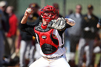 February 28, 2010:  Catcher Jeff Arnold of the Louisville Cardinals during the Big East/Big 10 Challenge at Raymond Naimoli Complex in St. Petersburg, FL.  Photo By Mike Janes/Four Seam Images