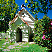 New Zealand, South Island, Arrowtown: Historic Anglican Church | Neuseeland, Suedinsel, Arrowtown: historische anglikanische Kirche