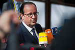 Brussels, Belgium -- July 16, 2014 -- European Council, EU-summit, meeting of Heads of State / Government to decide on the agenda and the composition of the new EU-Commission; here, arrival of Francois (François) HOLLANDE, President of France -- Photo: © HorstWagner.eu