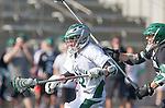 La Canada Flintridge, CA 03/16/13 - Will Montero (De La Salle #22) in action during the De La Salle vs Coronado lacrosse game at St Francis High School.  De La Salle defeated Coronado 8-5.