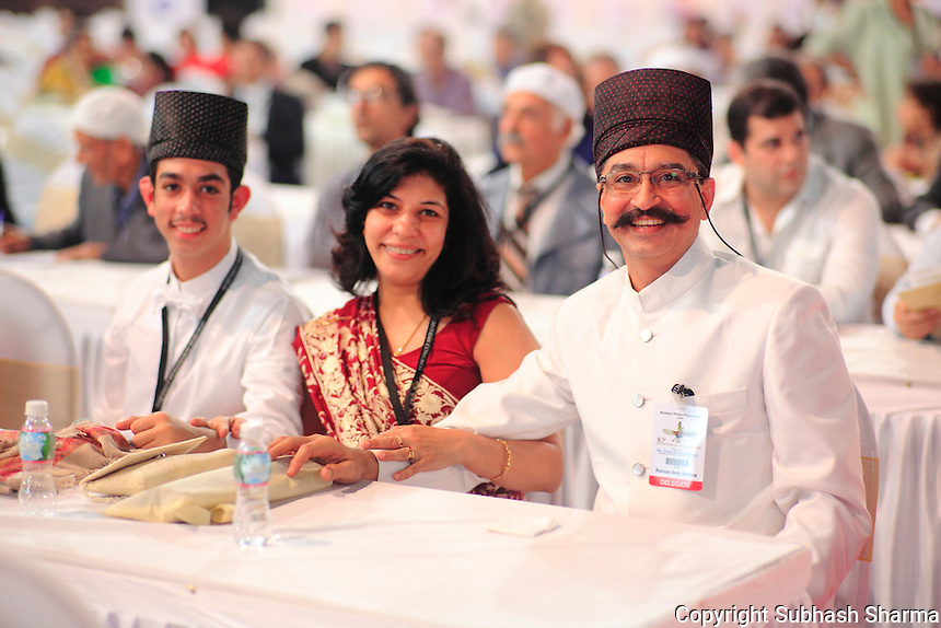 27dec. 2013 - Mumbai,INDIA :<br /> Parsi &amp; Zoroastrian delegates from all over the world attend  the 10th World Zoroastrian Congress at Mumbai , India. <br /> <br /> (Subhash Sharma/Polaris)