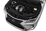 Car Stock 2018 Lexus RX 350L-4x2 5 Door SUV Engine  high angle detail view